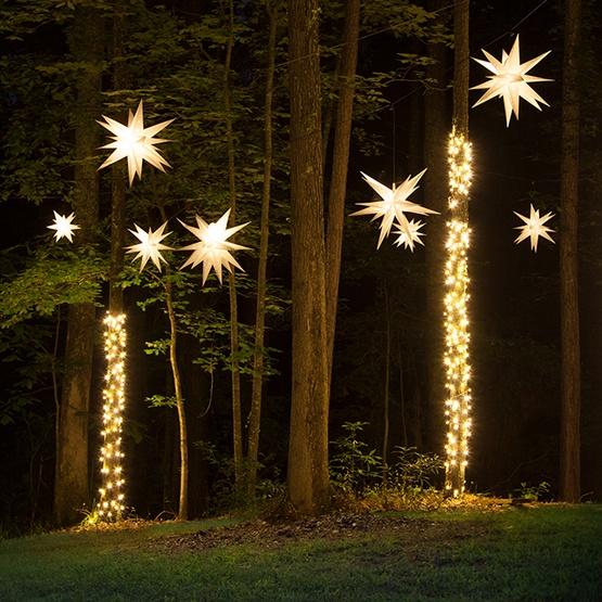 14 White Led Moravian Star