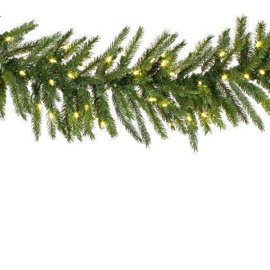 Balsam Fir Prelit Led Christmas Garland Warm White Lights