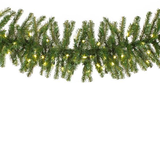 Douglas Fir Prelit Led Christmas Garland Warm White Lights