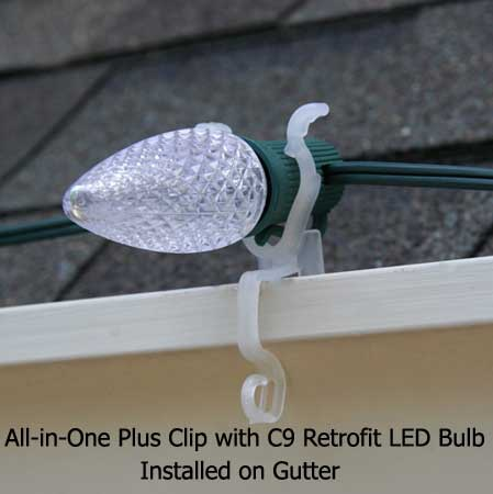 Christmas Lights Clips For Gutters