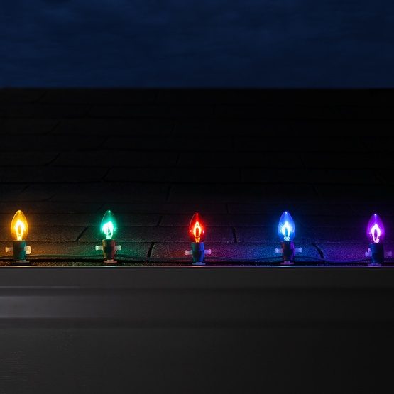 Vintage Christmas Lights.C9 Multicolor Glass Flexfilament Tm Led Vintage Christmas Light Bulb Transparent