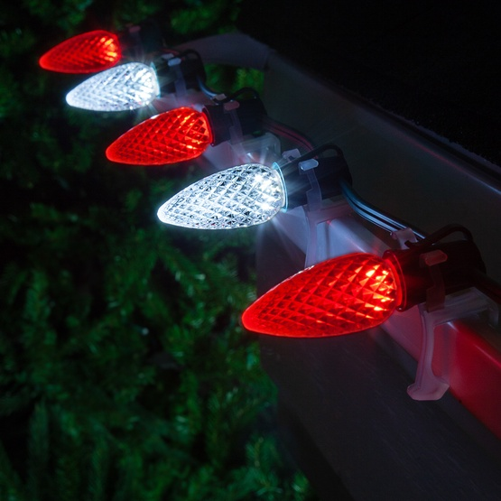 Christmas Lights - C9 Cool White / Red Opticore Commercial ...