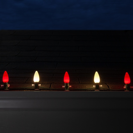 Christmas Lights - C9 Red / Warm White Smooth Opticore ...