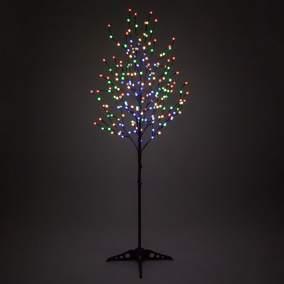 - Brown LED Tree With Multicolor Mini Globe Lights