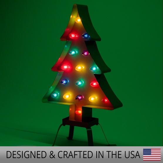 sports shoes 2cd17 8f33b Green Marquee Christmas Tree, Multicolor Lights