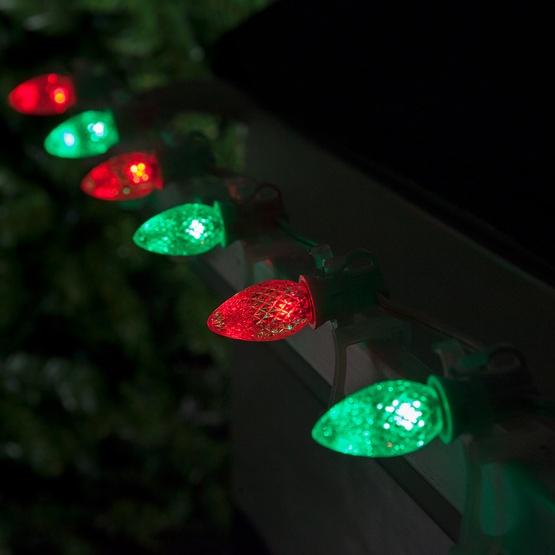 C7 Color Change Red-Green LED Christmas Light Bulbs