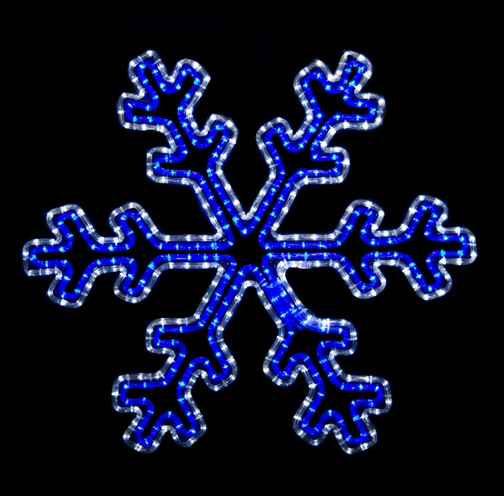 Snowflakes Amp Stars 2 Blue And White Led Snowflake With
