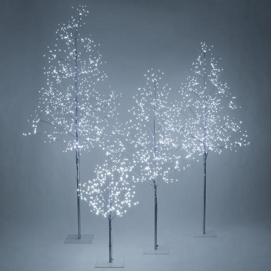 Silver Fairy Light Led Tree