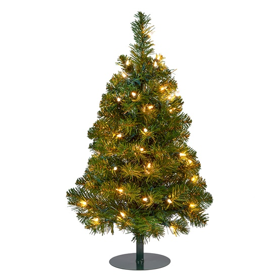timeless design 6c1c5 df0aa 2' Walkway Pre-Lit Winchester Fir Tree, 50 Clear Lamps