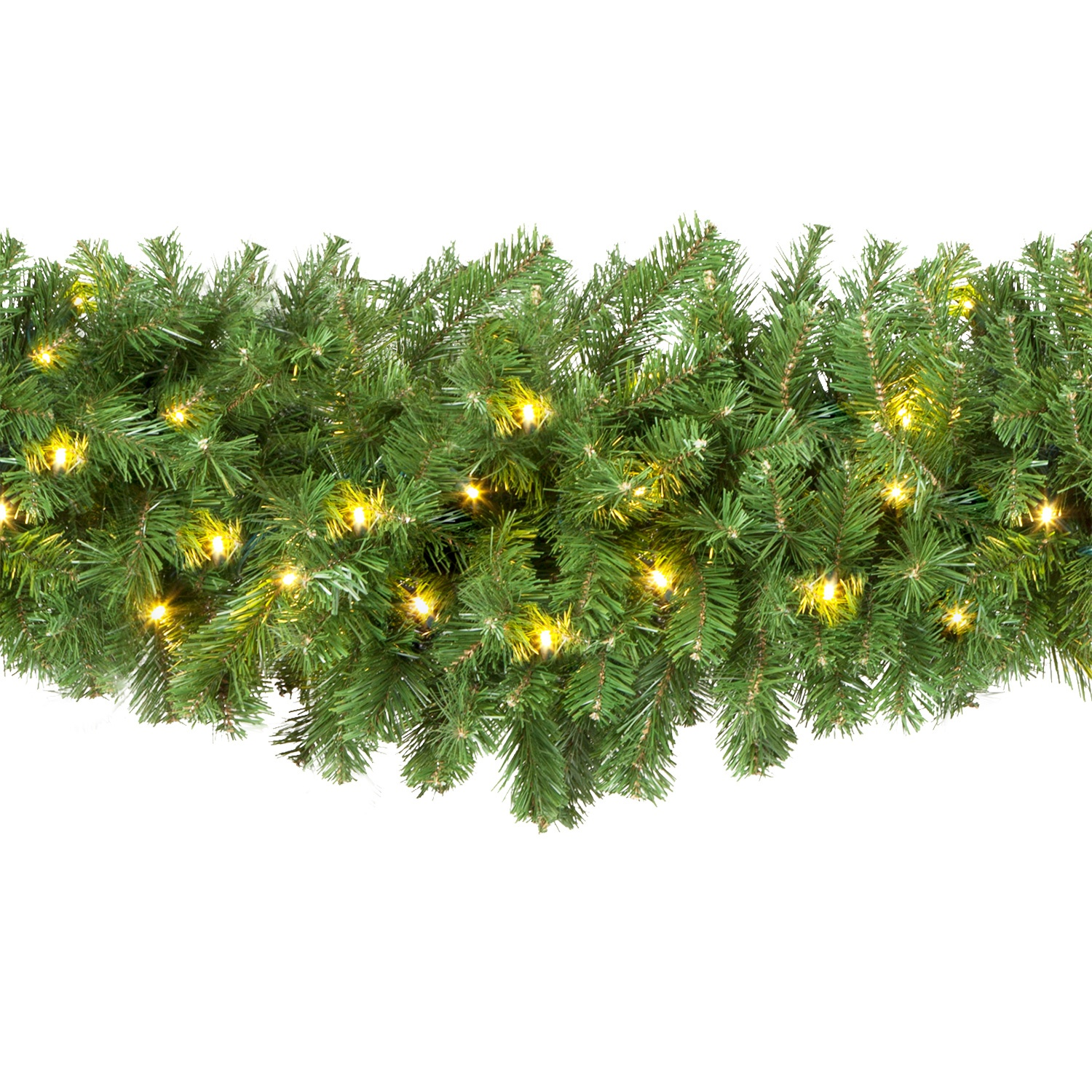 Olympia Pine Prelit Commercial Led Swag Christmas Garland Warm White Lights