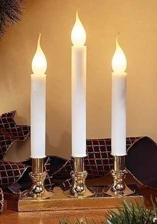 Christmas Candles 3 Tier Candelabra