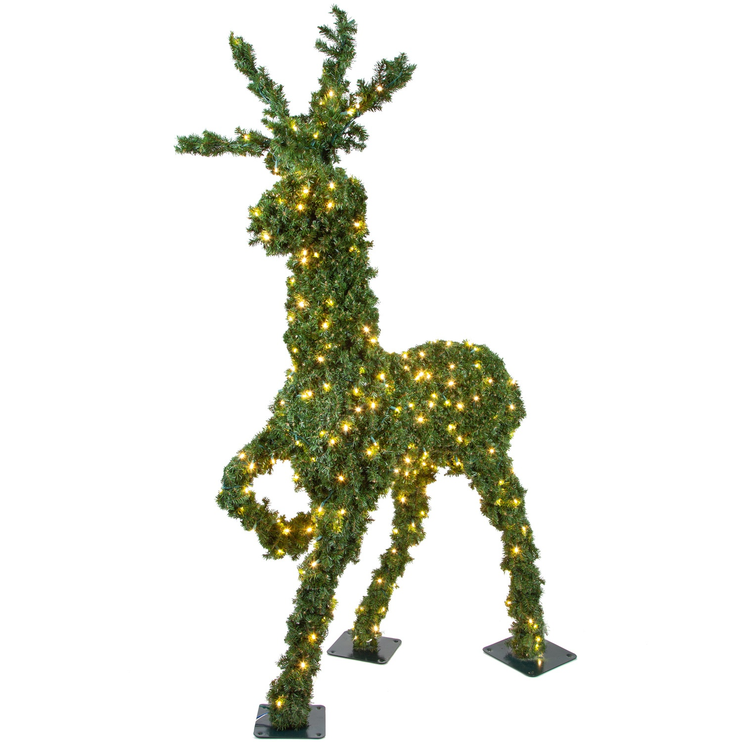 Outdoor Christmas Decorations 4 8 Standing Reindeer Topiary Led Outdoor Yard Decoration
