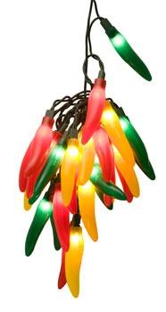 Novelty Lights Chili Pepper Cluster Light Set 35