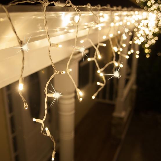 70 5mm Warm White Led Icicle Lights