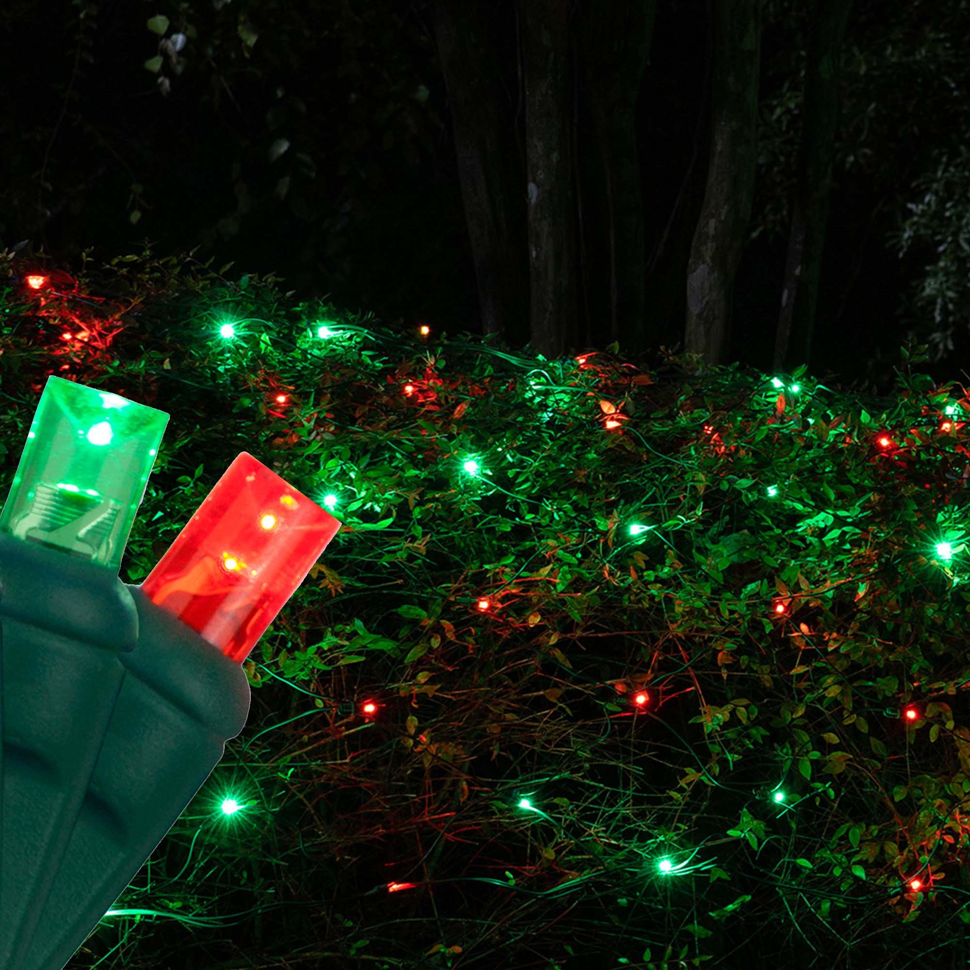 5mm Red Green Led Net Lights Green Wire